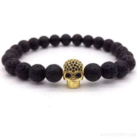 Image of Stone Beads Skull Bracelet - 6 - Custom Made | Free Shipping