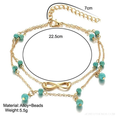Image of Summer Beach Bead Shell Elephant Pendant Anklet - Bjla25851 - Custom Made | Free Shipping