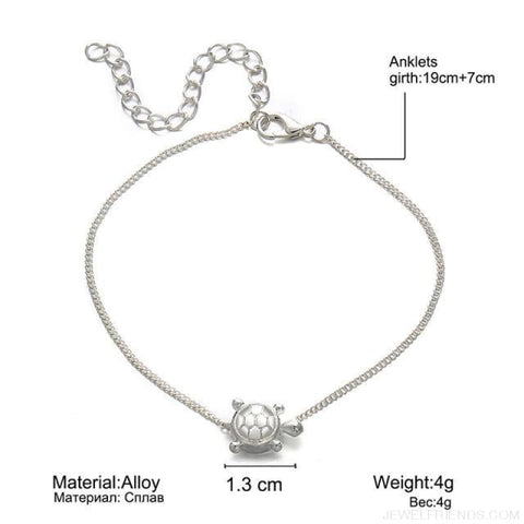 Image of Summer Beach Bead Shell Elephant Pendant Anklet - Bjla731 - Custom Made | Free Shipping