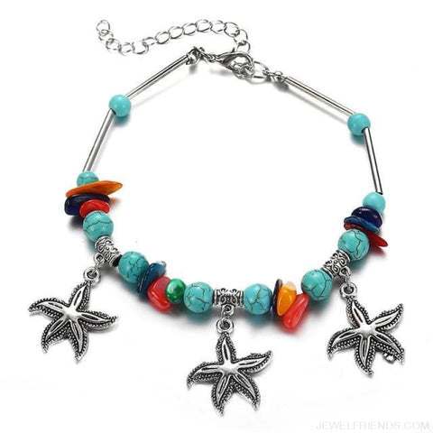 Image of Summer Beach Bead Shell Elephant Pendant Anklet - Fla507 - Custom Made | Free Shipping