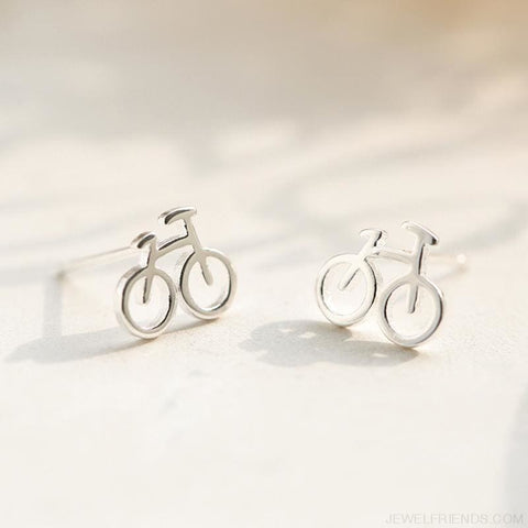 Image of Tiny Bicycle Stud Earrings - Custom Made | Free Shipping