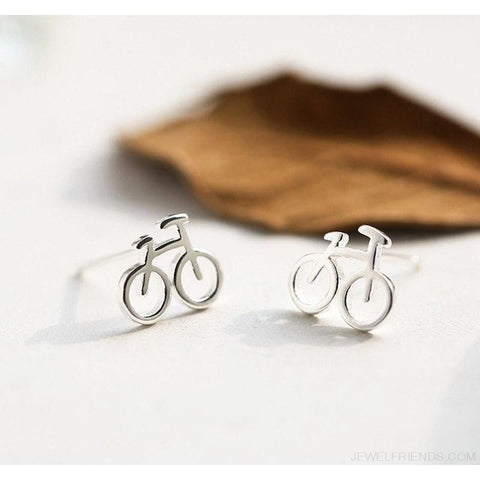 Tiny Bicycle Stud Earrings - Custom Made | Free Shipping