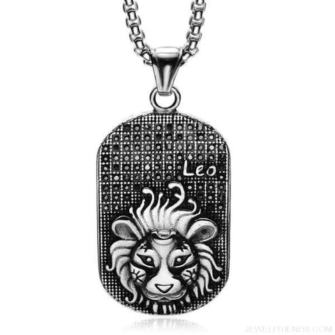 Image of Titanium Stainless Steel Zodiac Signs Amulet Pendants Necklaces - Custom Made | Free Shipping