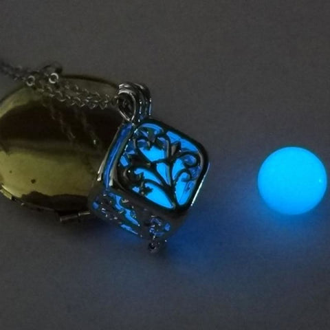 Image of Tree Of Life Dark Luminous Necklaces - Blue - Custom Made | Free Shipping