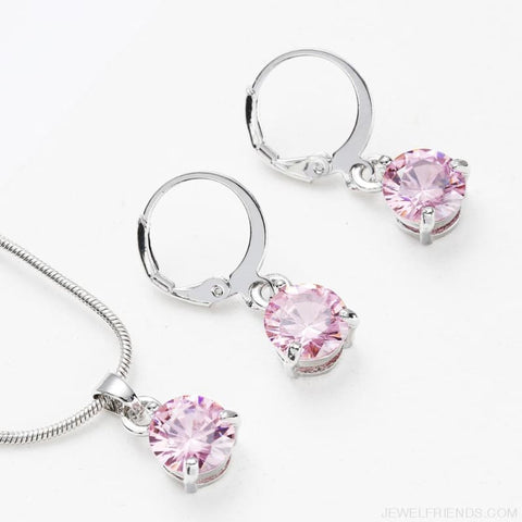 Image of Trendy Simple Multicolor Cubic Zirconia Jewelry Sets - Custom Made | Free Shipping
