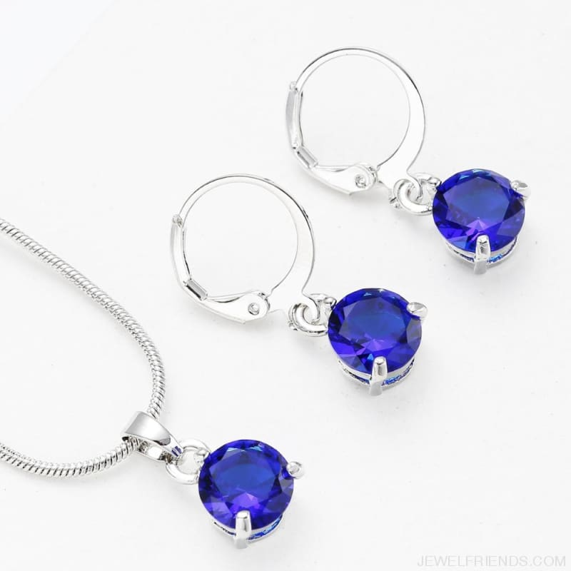 Trendy Simple Multicolor Cubic Zirconia Jewelry Sets - Custom Made | Free Shipping