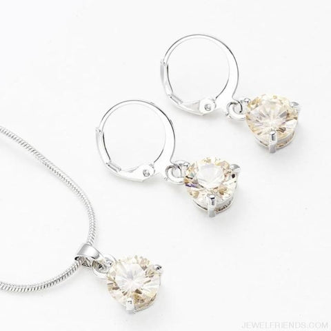 Image of Trendy Simple Multicolor Cubic Zirconia Jewelry Sets - Light Yellow - Custom Made | Free Shipping
