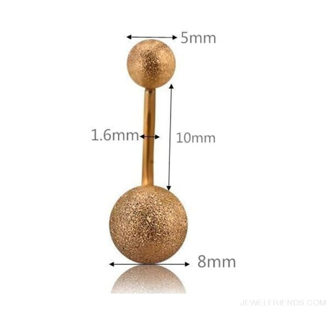 Image of Two Balls Gold/black/silver Barbell Navel Piercings - Custom Made | Free Shipping