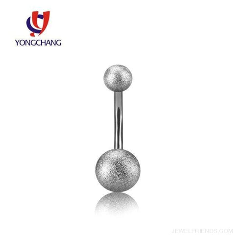 Image of Two Balls Gold/black/silver Barbell Navel Piercings - Silver - Custom Made | Free Shipping