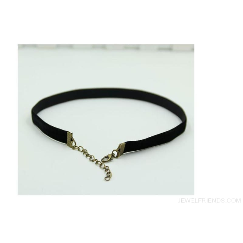 Vintage Black Velvet Choker - Custom Made | Free Shipping