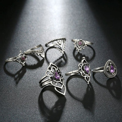 Vintage Knuckle Ring Set Boho Jewelry 10Pcs/set - Custom Made | Free Shipping