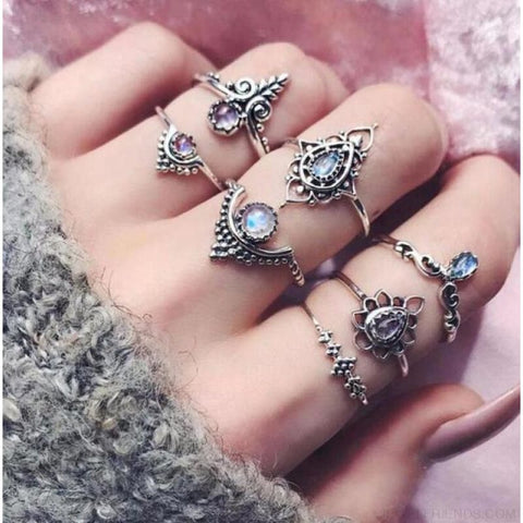 Vintage Knuckle Ring Set Boho Jewelry 10Pcs/set - Type 13 - Custom Made | Free Shipping