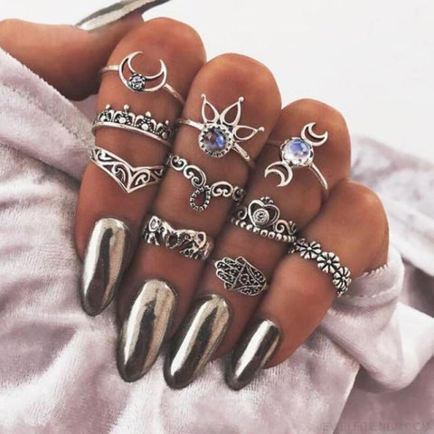 Vintage Knuckle Ring Set Boho Jewelry 10Pcs/set - Type 8 - Custom Made | Free Shipping