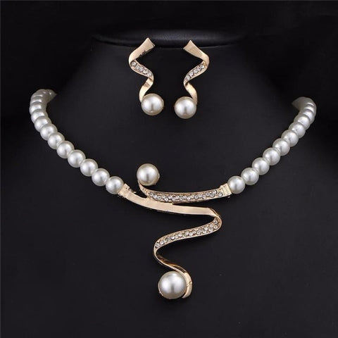 Image of Vintage Simulated Pearl Jewelry Sets Bridal - Custom Made | Free Shipping