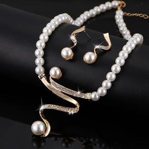 Vintage Simulated Pearl Jewelry Sets Bridal
