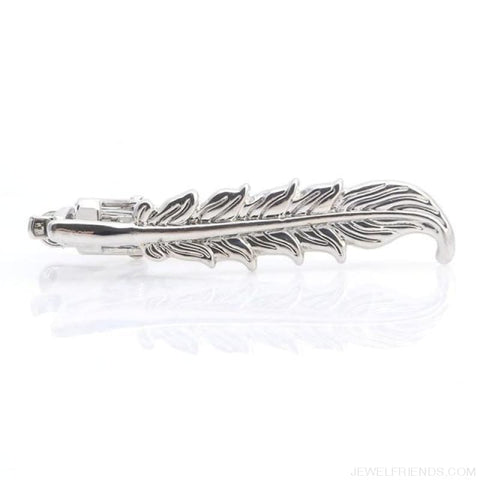 Image of Vintage Tie Clip Necktie Feather Archor Mustache - 1 - Custom Made | Free Shipping