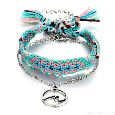 Image of Vintage Weave Handmade Cotton Beach Foot Jewelry - Fcs19230 - Custom Made | Free Shipping