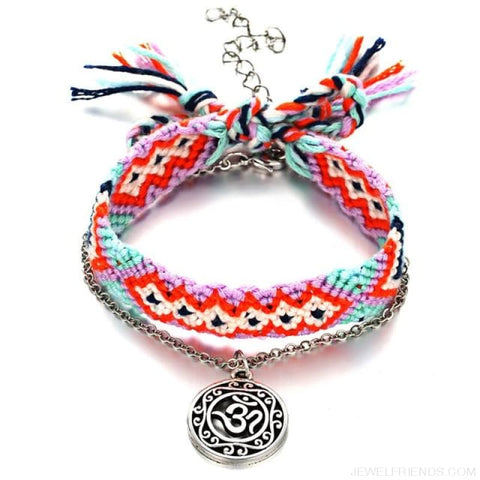 Image of Vintage Weave Handmade Cotton Beach Foot Jewelry - Fcs411A2 - Custom Made | Free Shipping