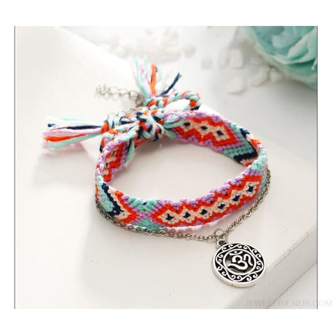 Image of Vintage Weave Handmade Cotton Beach Foot Jewelry - Custom Made | Free Shipping
