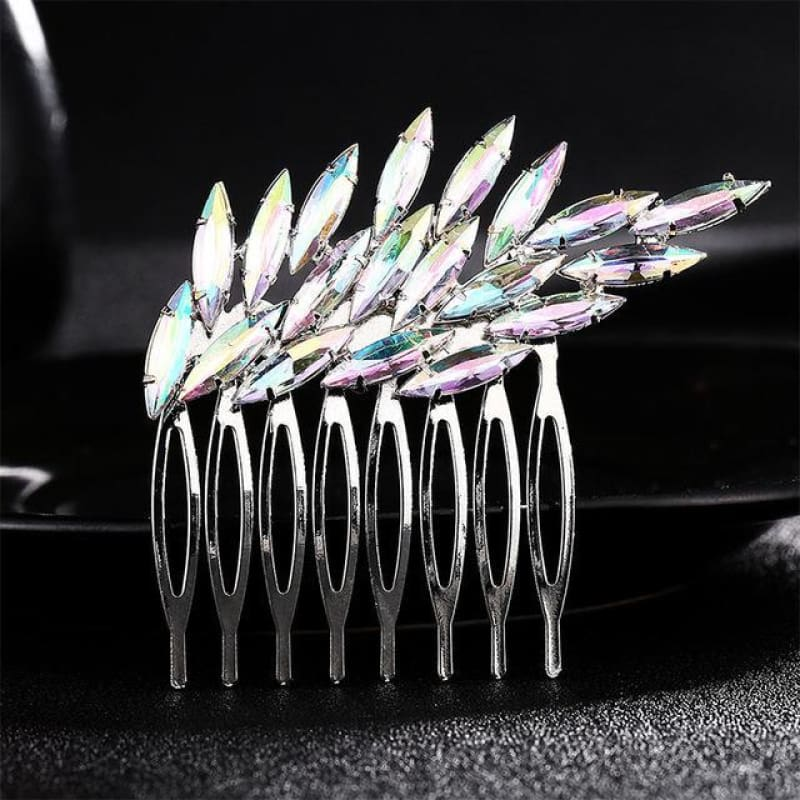 Wedding Hair Combs Crystal Rhinestones Pearls - Hs-J2604 - Custom Made | Free Shipping