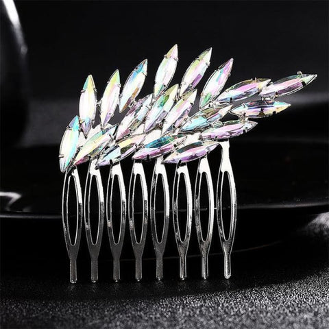 Image of Wedding Hair Combs Crystal Rhinestones Pearls - Hs-J2604 - Custom Made | Free Shipping