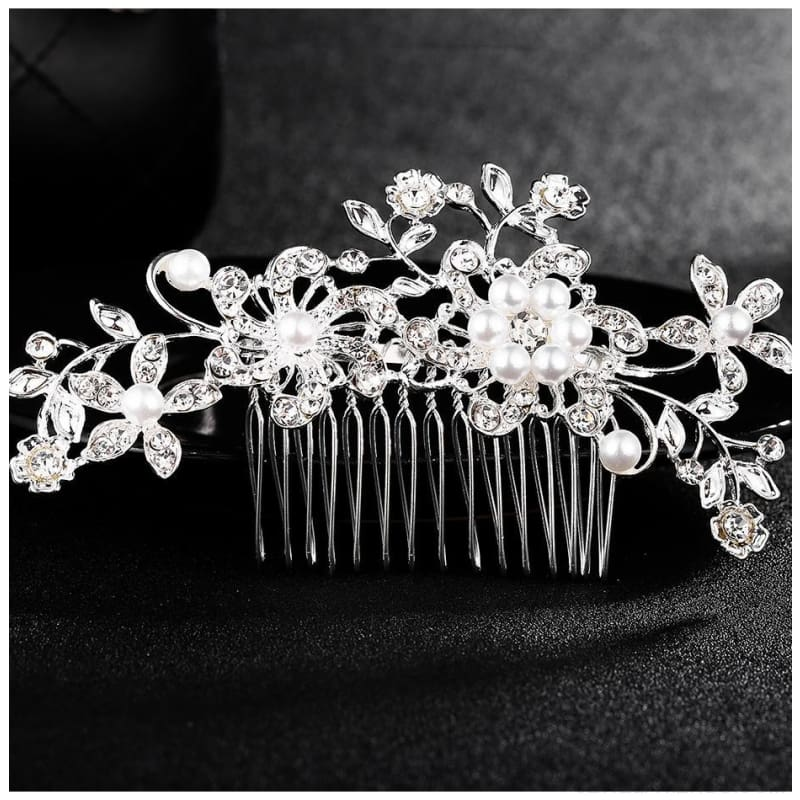 Wedding Hair Combs Crystal Rhinestones Pearls - Custom Made | Free Shipping