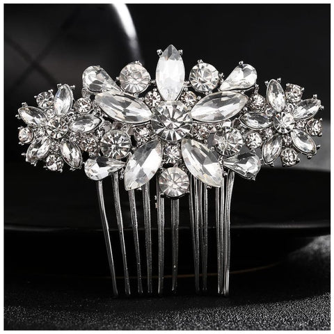 Image of Wedding Hair Combs Crystal Rhinestones Pearls - Custom Made | Free Shipping