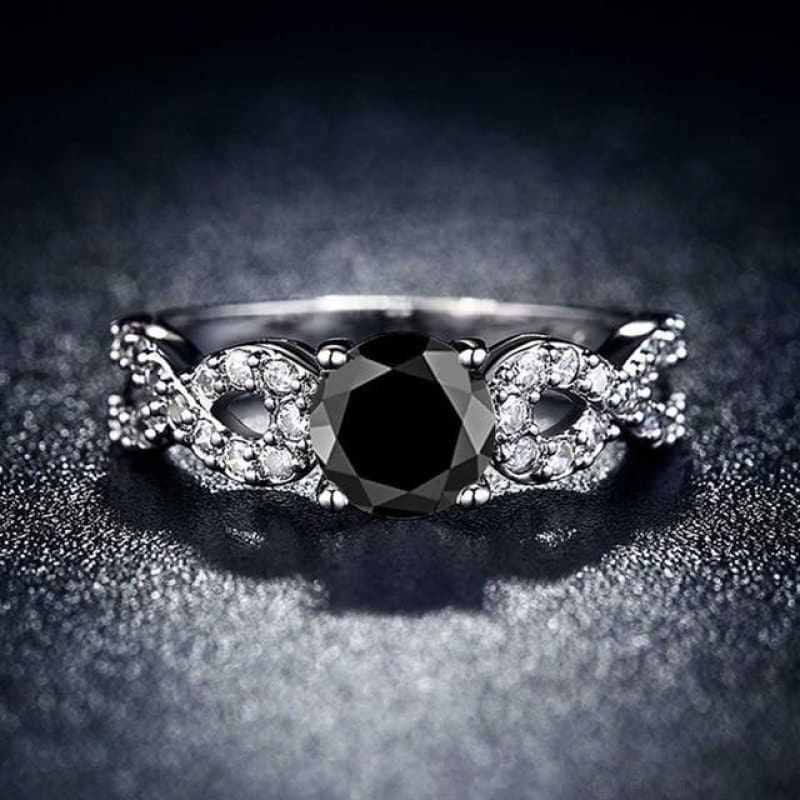 Wedding Rings White Gold Color Luxury - 10 / Black - Custom Made | Free Shipping