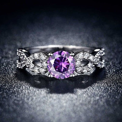 Image of Wedding Rings White Gold Color Luxury - 10 / Purple - Custom Made | Free Shipping