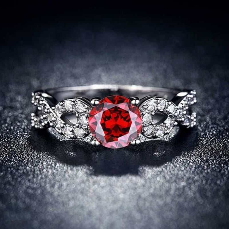 Wedding Rings White Gold Color Luxury - 10 / Red - Custom Made | Free Shipping