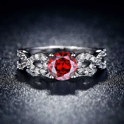Image of Wedding Rings White Gold Color Luxury - 10 / Red - Custom Made | Free Shipping