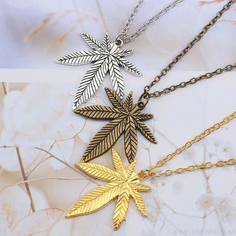 Image of Weed Herb Leaf Pendants Necklaces - Custom Made | Free Shipping