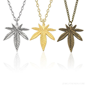 Weed Herb Leaf Pendants Necklaces - Custom Made | Free Shipping