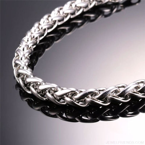 Wheat Chain Stainless Steel 3Mm/6Mm/9Mm Twisted Necklace - Custom Made | Free Shipping