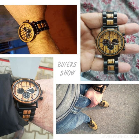 Wood Timepieces Chronograph Watches - Custom Made | Free Shipping