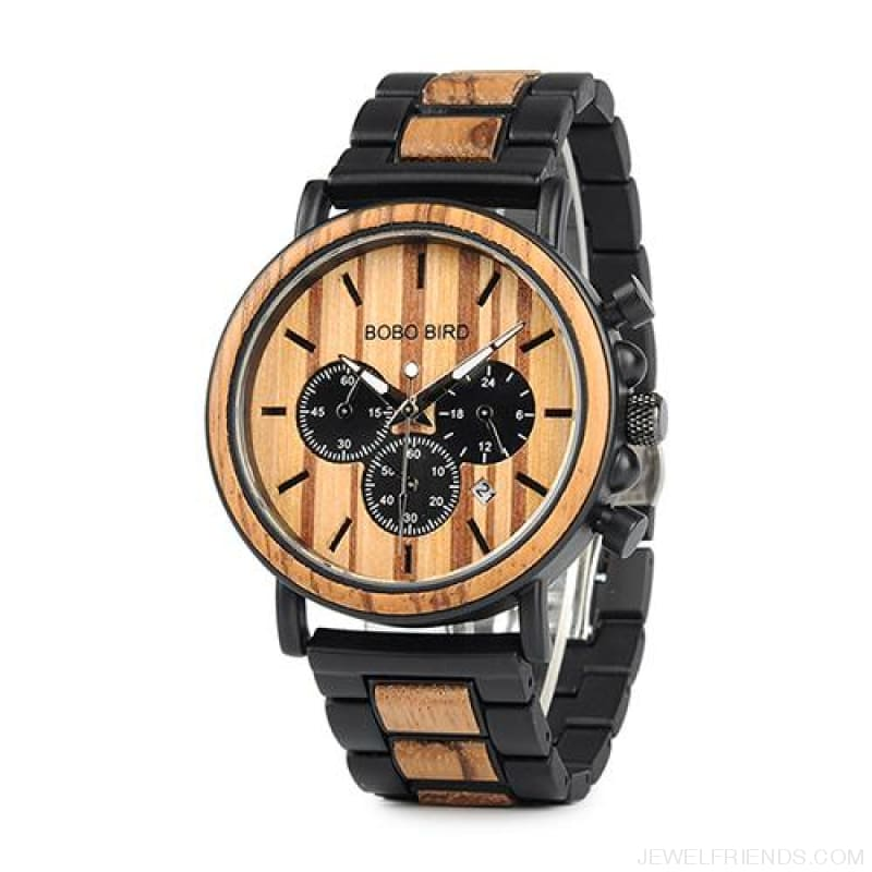Wood Timepieces Chronograph Watches - W-P09-1 / China - Custom Made | Free Shipping