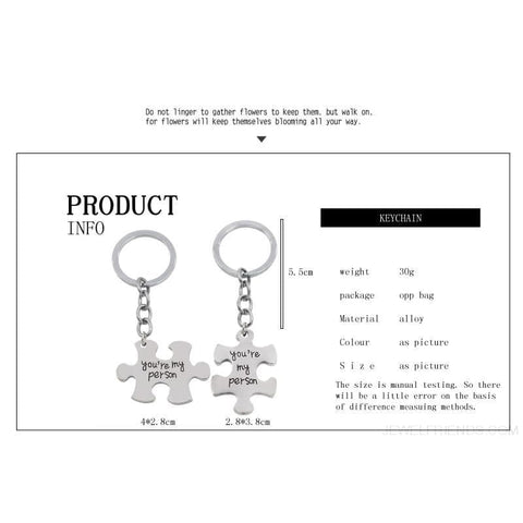 Image of Youre My Person Puzzle Couple & Friends Keychains - Custom Made | Free Shipping