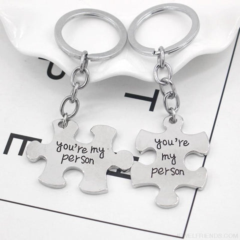 Youre My Person Puzzle Couple & Friends Keychains - Custom Made | Free Shipping