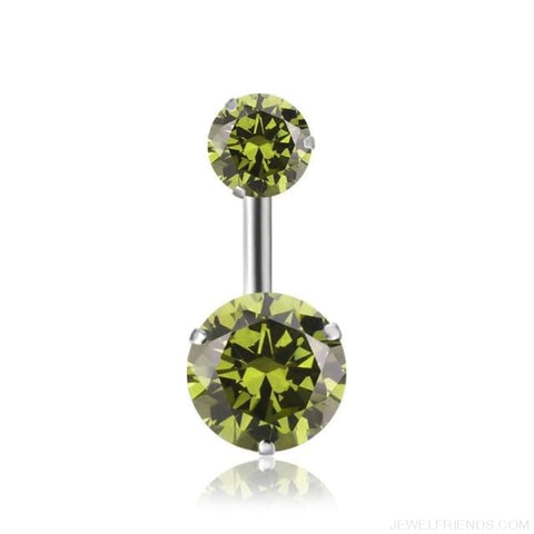 Image of Zircon Crystal Double Ball Navel Piercing - 9 - Custom Made | Free Shipping