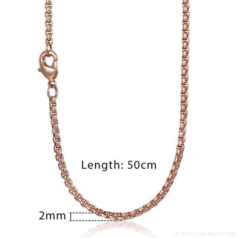 Zodiac Sign Rose Gold Round Pendant Necklace - Kn555 Chain 50Cm - Custom Made | Free Shipping