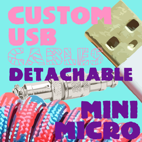 Custom DETACHABLE Mini/Micro USB 🐍