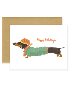 Happy Holidays Dachshund