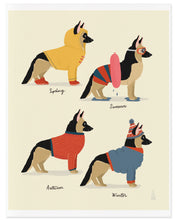Load image into Gallery viewer, Seasonal German Shepherds