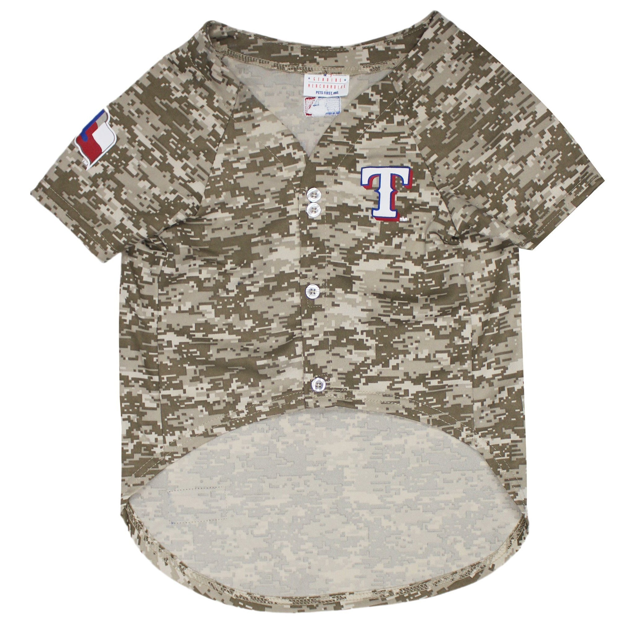 newest 52967 db91b TEXAS RANGERS MLB DOG JERSEY – CAMO
