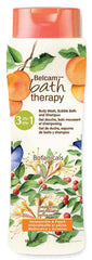 Belcam Bath Therapy Botanicals  3-in-1 Body Wash, Bubble Bath & Shampoo Honeysuckle & Peach  /e 500 mL /16.9 fl. oz.