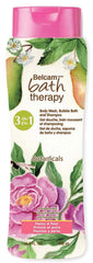Belcam Bath Therapy Botanicals  3-in-1 Body Wash, Bubble Bath & Shampoo Peony & Pear  /e500 mL /16. 32 fl. oz.<br><b>Now $2.01 OFF regular $6.00 price</b>