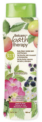 Belcam Bath Therapy Botanicals  3-in-1 Body Wash, Bubble Bath & Shampoo Apple & Rose  /e 950 mL /32.0 fl. oz.