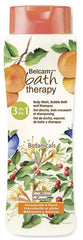 Belcam Bath Therapy Botanicals  3-in-1 Body Wash, Bubble Bath & Shampoo Honeysuckle & Peach  /e 950 mL /32.0 fl. oz.