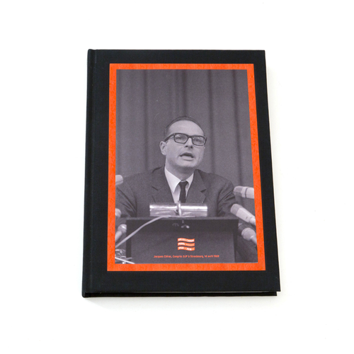 Gilles Caron large notebook, Jacques Chirac