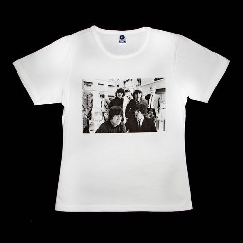 Premium organic white T-shirt, The Beatles